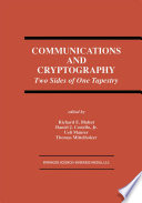 Communications And Cryptography book