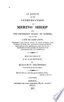 An Account Of The Introduction Of Merino Sheep Into The Different States Of Europe And At The Cape Of Good Hope