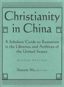 Christianity In China book