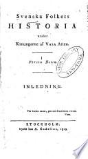 Svenska Folkets Historia under Konungarne af Vasa Atten