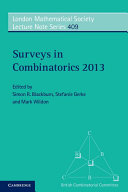 Surveys in Combinatorics 2013