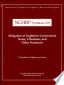 Mitigation of Nighttime Construction Noise, Vibrations, and Other Nuisances