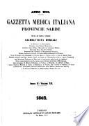 Gazzetta medica italiana  Stati Sardi