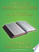 A New and Modern Holy Bible with the Intelligent Design of an Active God Book PDF