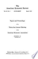 Papers and Proceedings of the     Annual Meeting Book PDF