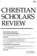 Christian Scholar s Review