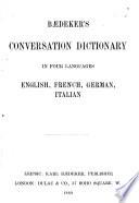 B  deker s Conversation Dictionary in Four Languages