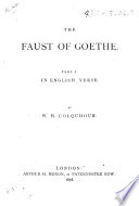 The Faust of Goethe