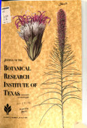 Journal Of The Botanical Research Institute Of Texas