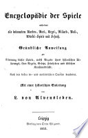 Encyklop Die Der Spiele Enthaltend Alte Bekannten Karten Bret Kegel Billard Ball W Rfel Spiele U Schach