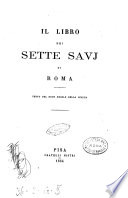Il libro dei sette savj di Roma