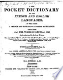 A New Pocket Dictionary of the French and English Language