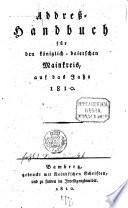 Addreß-Handbuch für den königlich-baierschen Mainkreis