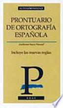 Prontuario de ortograf  a espa  ola