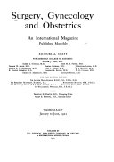 Surgery  Gynecology and Obstetrics