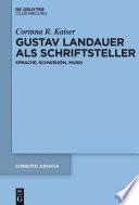 Gustav Landauer als Schriftsteller
