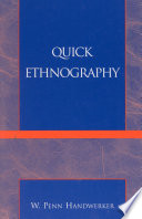 Quick Ethnography