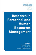 Book Research in Personnel and Human Resources Management