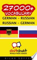 27000 German Russian Russian German Vocabulary