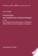 Konkordanz der hethitischen Keilschrifttafeln: Die Textfunde der Grabungen in Bogazköy 1964-2004 und Texte anderer Provenienz
