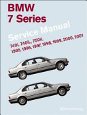 BMW 7 Series  E38  Service Manual  1995 2001