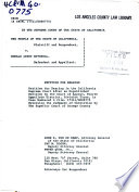 California  Court of Appeal  1st Appellate District   Records and Briefs