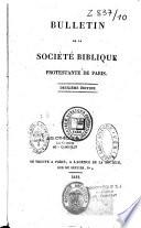 Bulletin de la Société biblique protestante de Paris