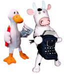 Click, Clack, Moo Cow & Duck Puppet Set : ...