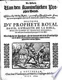 De Historie Van Den Konincklijcken Prophete David
