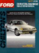Chilton S Ford Crown Victoria Mercury Grand Marquis