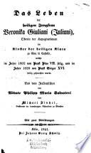 Das Leben der heiligen Jungfrau Veronika Giuliani (Juliani)