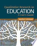 Qualitative Research in Education  A User s Guide Book PDF