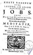 Korte Redenen Over T Vyfde En Sesde Capittelen Jobs Met Eene Meditatie Over Jacob V