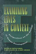 Examining Lives In Context book