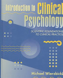 Introduction To Clinical Psychology : in a piecemeal way. most...
