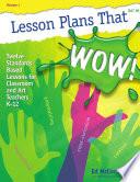 Lesson Plans that WOW!