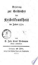 Beytrag zur Geschichte der Kribelkrankheit im Jahre 1770
