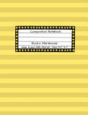 Yellow Composition Note Book