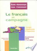 Fran  ais en campagne   guide p  dagogique    dition 2006   Le