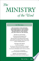 The Ministry Of The Word Vol 21 No 5