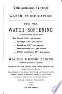 The Modern System of Water Purification