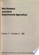 New Zealand Journal of Crop and Horticultural Science Experimental Agriculture