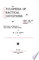 The Cyclopedia Of Practical Quotations