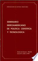 Seminario Iberoamericano de política científica y tecnológica