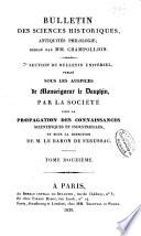 Bulletin Des Sciences Historiques Antiquit S Philologie