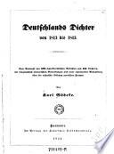 Deutschlands Dichter von 1813 bis 1843  etc   Von Karl G  deke
