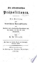 Die althochdeutschen prapositionen
