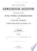 Schweizerische Bauzeitung