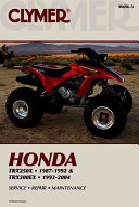 Honda Trx250x 1987 1992  Trx300ex 1993 2004