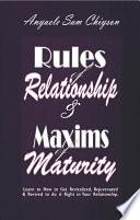 Ebook Rules of Relationship & Maxims of Maturity Epub Anyaele Sam Chiyson Apps Read Mobile